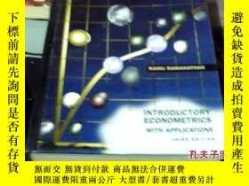 二手書博民逛書店罕見精裝外文書(介紹計量經濟學與應用程序)第三版Y25170
