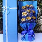 【Miss.Sugar】【限宅配】創意情人節禮物24k金箔玫瑰花束禮盒【K4002113】