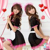 【愛愛雲端】美豔甜心!性感柔紗三件式女僕裝 R8NA08030088