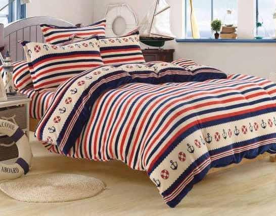 【貝淇小舖】超柔法蘭絨 / 海港之夜 (單人鋪棉床包+枕套) 超暖熱賣款
