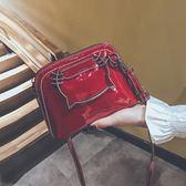 韓版ins超火貝殼小包包新款可愛少女手提百搭單肩斜背女包潮「爆米花」