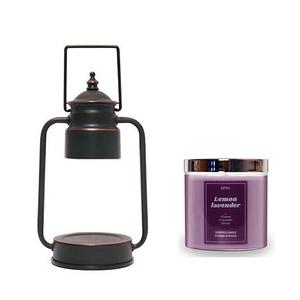 (組)EPOCHSIA x Pray守夜人金屬香氛蠟燭暖燈(S)-復古銅+檸檬薰衣草