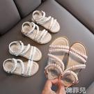女童涼鞋 女童涼鞋夏季新款韓版時尚寶寶珍珠小公主鞋子軟底休閒沙灘鞋 韓菲兒