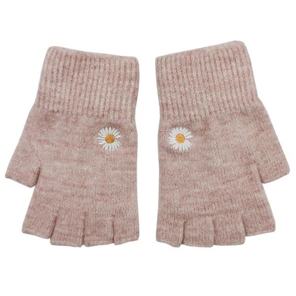 特賣促銷 盛琦手套半指女士冬天可愛露指毛線學生冬季寫字保暖韓版翻蓋針織