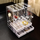 桌面展示架 納裝多功能耳環架子展示架戒指手鐲收納盒亞克力項鏈展架綜合透明