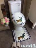 歐式麋鹿衛生間馬桶地墊