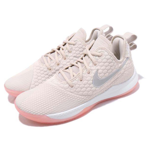 ▲Nike 籃球鞋 LeBron Witness III EP 三代 米白 銀 James 運動鞋 男鞋 AO4432-100