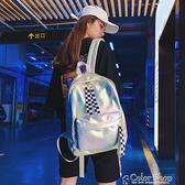書包女韓版原宿高中初學生雙肩包新款潮街拍鐳射背包 快速出貨