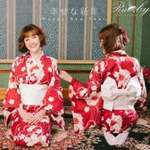 和服 配色花朵印花浴衣-Ruby s露比午茶