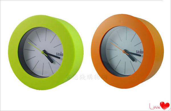 《省您錢購物網》近全新福利品~【聲寶 SAMPO】聲寶粉彩圓形鐘 (PY-Z1106ML)買一送一