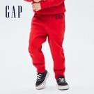 Gap男幼童 Logo刷毛運動長褲 740311-紅色