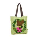 【日本進口正版】小熊學校 綠色款 帆布 托特包 肩背包 手提袋 The Bears' School - 430658