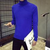 Mao  日韓新品純色修身高領套頭針織衫