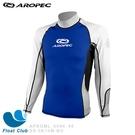 【零碼出清】AROPEC#XS 男款長袖萊克抗UV防曬衣(藍/白) 水上海上活動 - (恕不退換貨)