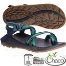 Chaco ZLM02_HE08綠色金字塔 男越野紓壓涼鞋-Z/Cloud 2 夾腳款運動鞋/佳扣水陸兩用鞋/沙灘拖鞋