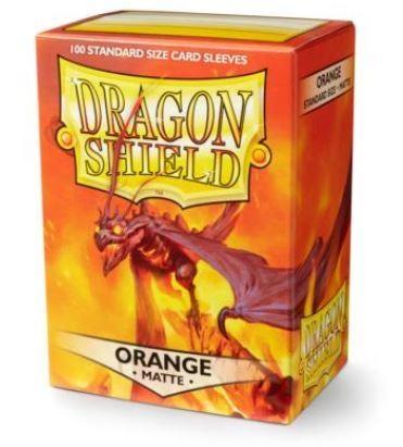 『高雄龐奇桌遊』龍盾 磨砂牌套 卡套 橘 Orange Shield Sleeves 正版桌上遊戲專賣店