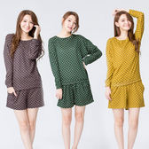 【Wonderland】活潑甜漾居家休閒衣褲3套組
