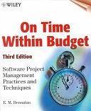二手書《On Time Within Budget: Software Project Management Practices and Techniques》 R2Y ISBN:0471376442