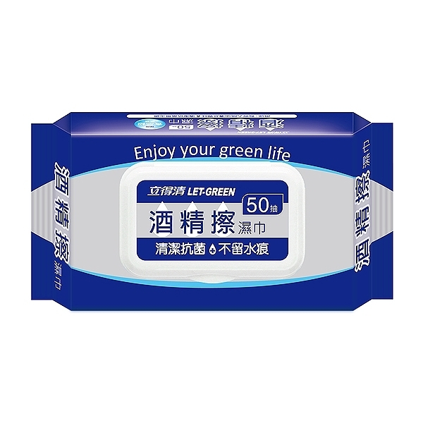 LET-GREEN 立得清 酒精擦濕巾(加蓋)50抽【小三美日】