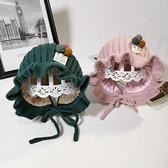 嬰兒帽子秋嬰幼兒女寶寶毛線帽公主洋氣護耳1-2歲女 『快速出貨』