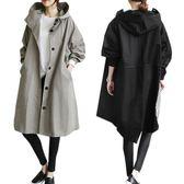 風衣外套 加厚風衣女中長款冬季韓版新款大碼外套女春冬寬鬆外衣  萬客居
