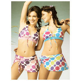 俏麗圓點3三件式比基尼女泳裝泡湯SPA泳衣3件式游泳裝.三點式比基尼推薦專賣店
