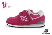 New Balance 574 中童運動鞋 復古慢跑鞋 O8434#桃紅◆OSOME奧森鞋業