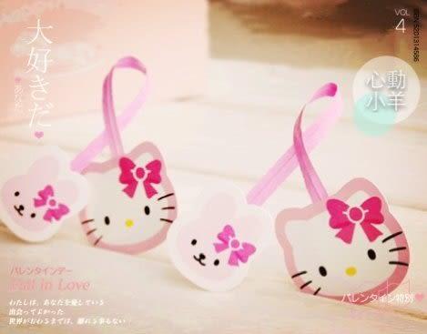 心動小羊^^可愛貓臉封口鐵絲,綁糖果袋、束口袋
