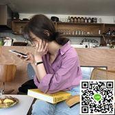 [ELINASEA]小海自制 韓版百搭基礎翻領寬鬆襯衣港風長袖襯衫女夏 年終狂歡