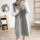 連帽抽繩孕婦哺乳【側掀式】洋裝 灰色【CVH395208】孕味十足 孕婦裝