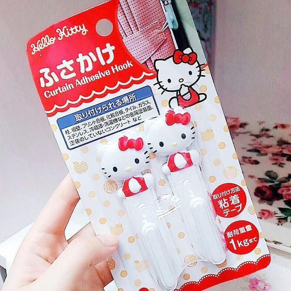 日本kitty窗簾收納勾掛勾壁勾收納2入574228通販屋