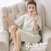 睡衣 女夏孕婦甜美純棉可愛外穿公主學生短袖中裙休閑睡裙