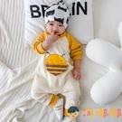嬰兒連身衣長袖哈衣外出男寶寶爬服新生衣服秋裝【淘嘟嘟】