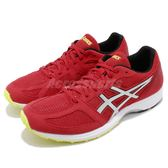 Asics 慢跑鞋 Lyteracer TS 7 紅 銀 螢光黃 運動鞋 舒適緩震 入門款 男鞋【PUMP306】 T8B0N600