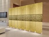 中式現代簡約屏風隔斷折屏時尚客廳酒店實木雙面臥室布藝行動玄關 xw 【快速出貨】