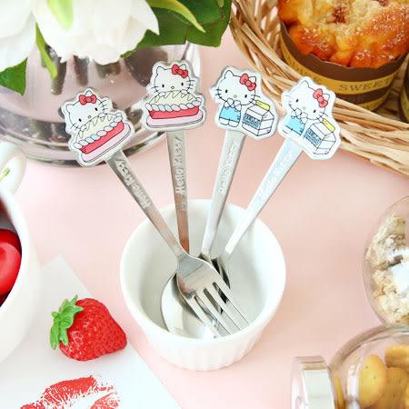 正版 Hello Kitty 不鏽鋼造型餐具 餐具 叉子 湯匙 卡通餐具 造型餐具 勺子