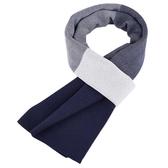 針織圍巾-百搭拼色雙面羊毛男披肩4色73wi10【時尚巴黎】