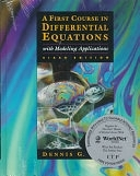 二手書博民逛書店《A First Course in Differential Equations with Modeling Applications》 R2Y ISBN:0534955746