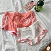 2條裝情侶內褲簡約運動男女雙人套裝全棉透氣中腰情侶款【大碼百分百】