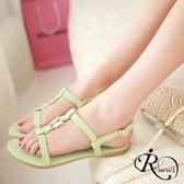 歐美時尚簡約線條漆皮平底涼鞋/35-39碼/3色 (RX0102-DV-6) iRurus 路絲時尚