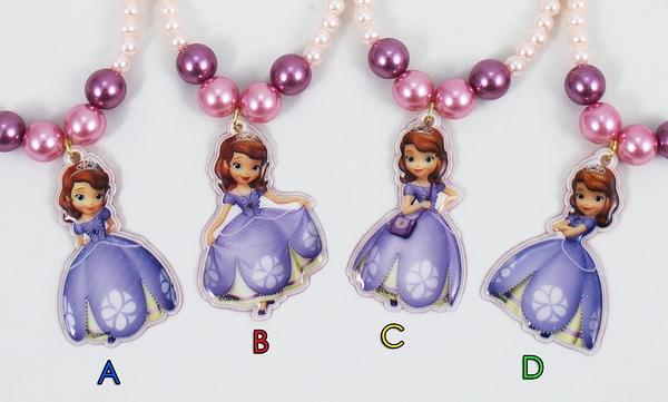 【卡漫城】 蘇菲亞 兒童 項鍊 二款選一 ㊣版 韓版 迪士尼 小公主 Sofia 扮家家酒 首飾 裝扮 打扮