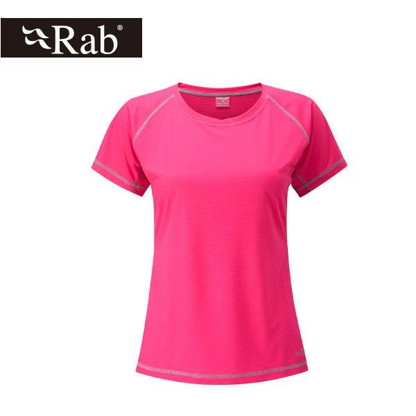 英國 RAB Interval Tee 銀鹽抗菌短袖排汗衣 女 洋彩雀紅 #QBT55SN