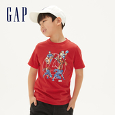 Gap男童Gap x Marvel 漫威系列美國隊長棉質舒適圓領短袖T恤551233-正紅色