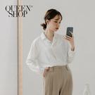 Queen Shop【01096519】經典黑白配色直條紋襯衫*現+預*