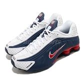 Nike 慢跑鞋 Shox R4 藍 白 紅 男鞋 USA 美國隊 彈簧鞋 運動鞋【ACS】 104265-406