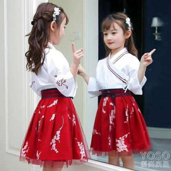 女童洋裝 兒童漢服女童夏中國風公主裙兒童演出新款古裝超仙連衣裙唐裝古風 618大促銷