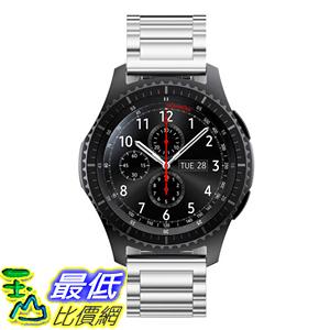 [106玉山最低比價網] 三星Gear S3 Classic Frontier手錶錶帶 替換腕帶 金屬不銹鋼22mm 蝴蝶扣S3銀色