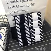 【4雙】潮流男士中長筒薄款嘻哈百搭黑白純棉襪子潮牌禮盒套裝 【快速出貨】