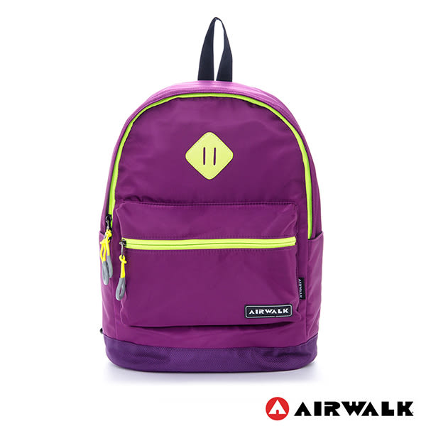 美國 AIRWALK 經典學院風跳色豬鼻後背包-紫
