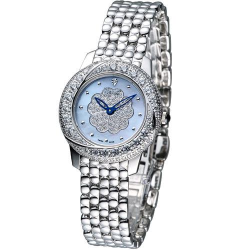 Ogival 愛其華山茶花珠寶錶 30512DLW  加贈可替換錶帶組-黑